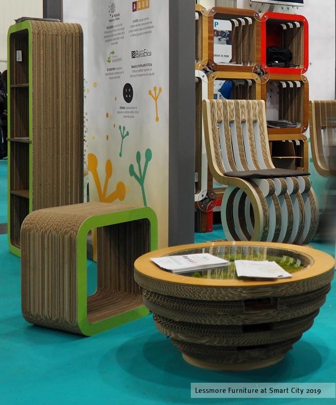 Smart city allestimento green in cartone di lessmore per for Arredi ecosostenibili