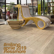 Lessmore in Piazza Castello in Milan for the Fuorisalone 2019