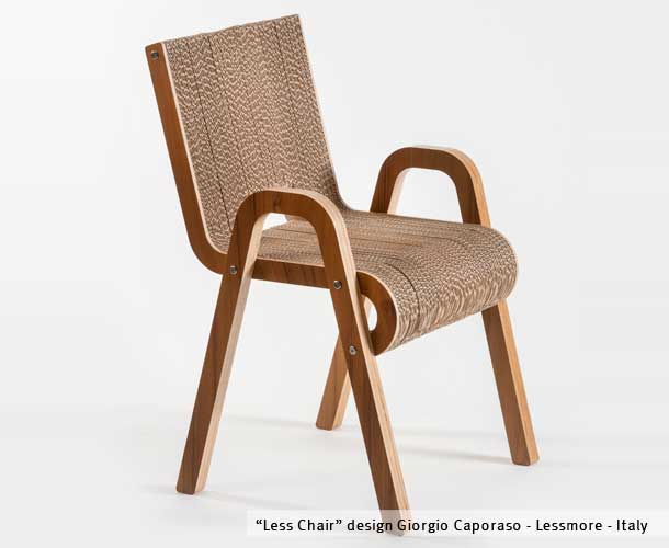 Eco design cardboard furniture studio giorgio caporaso for Designer chairs for less