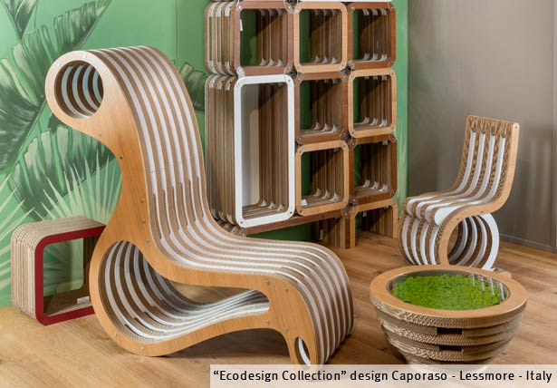 cardboard furniture design. cardboard furniture giorgio caporaso collection by lessmore design
