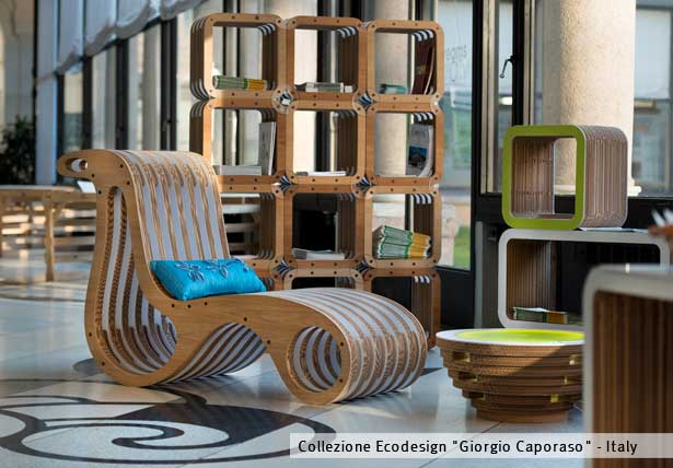 Mobili in cartone ecodesign studio caporaso - Mobili in cartone design ...