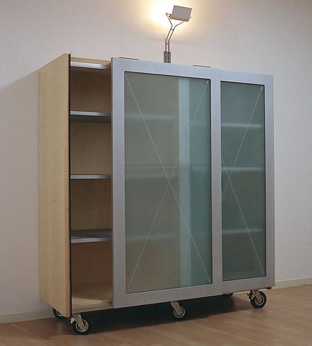 Libero mobile contenitore modulare su ruote by studio for Mobile con ruote